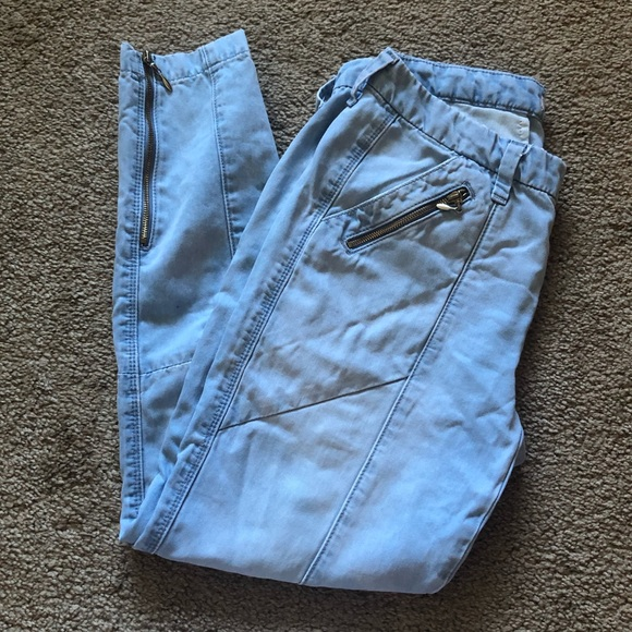 7 For All Mankind Denim - 7 FOR ALL MANKIND SKINNY CROP JEANS WITH ZIPPERS
